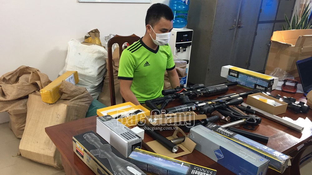 Bắc Giang, linh kiện súng tự chế; súng tự chế, Công an Tân Yên, Công an Tân Yên bắt đối tượng bán súng tự chế