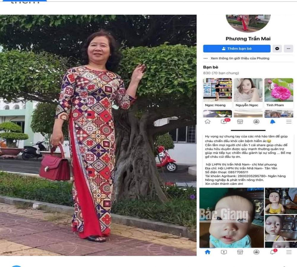 Cảnh giác với trò lừa đảo qua hình thức vận động từ thiện, Hội LHPN thị trấn Nhã Nam, Tân Yên