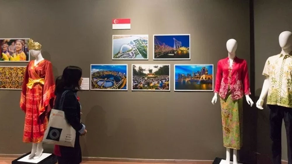 Diverse ASEAN culture, traditional costumes, Vietnam National Museum of History, various cultural colours, regional countries