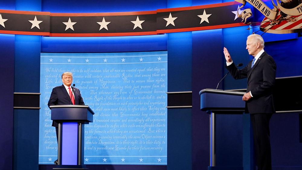 Bầu cử Mỹ 2020, Hai ứng cử viên tổng thống, bước vào, cuộc tranh luận trực tiếp cuối cùng