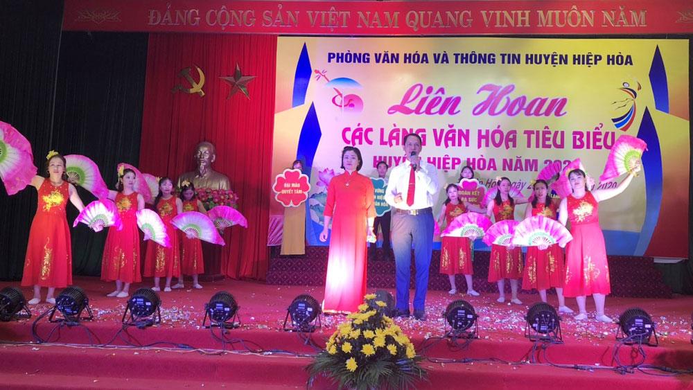 Liên hoan các làng văn hóa tiêu biểu huyện Hiệp Hòa