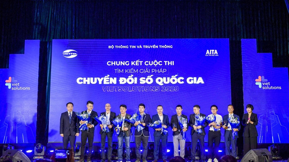 Vietnam, national digital transformation solutions, awards ceremony, plant health, Vietnamese mapping solution, web security solution