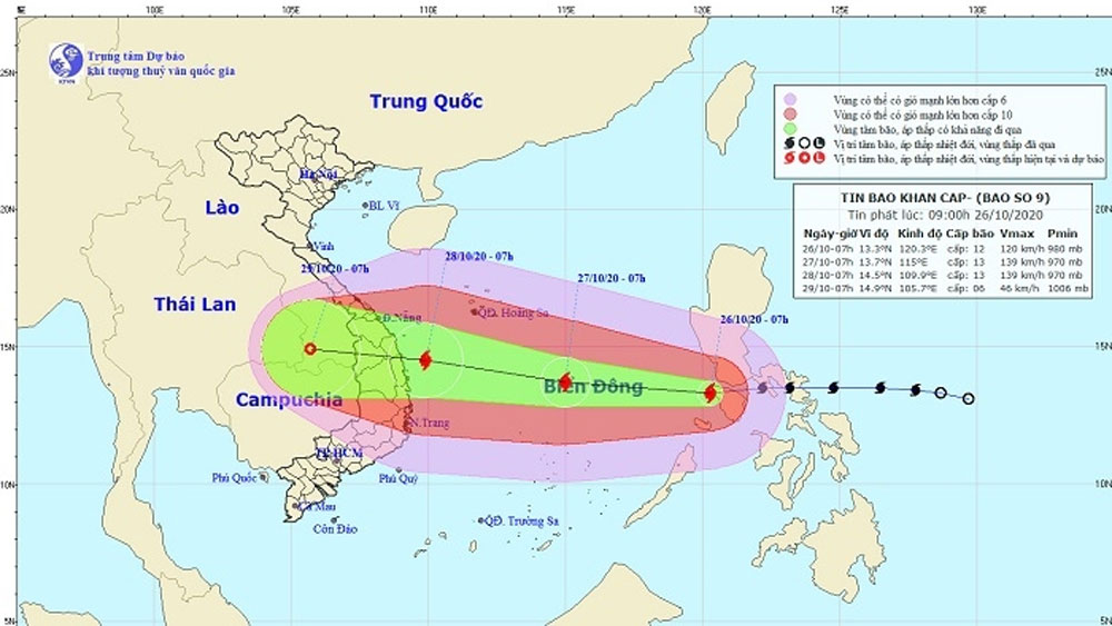 Central region, new strong Storm, storm Molave, heavy damages, current historic flooding, tropical depression, flash floods