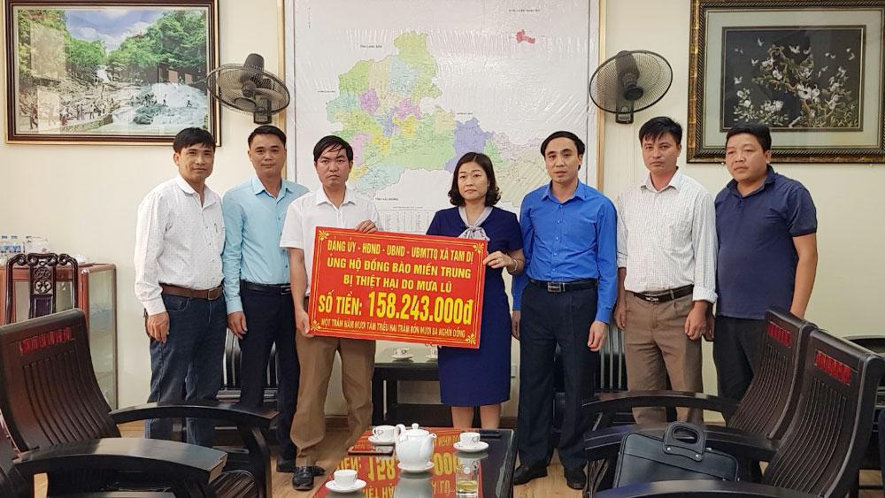 Lục Nam (Bắc Giang): Tiếp nhận gần 800 triệu đồng ủng hộ đồng bào miền Trung