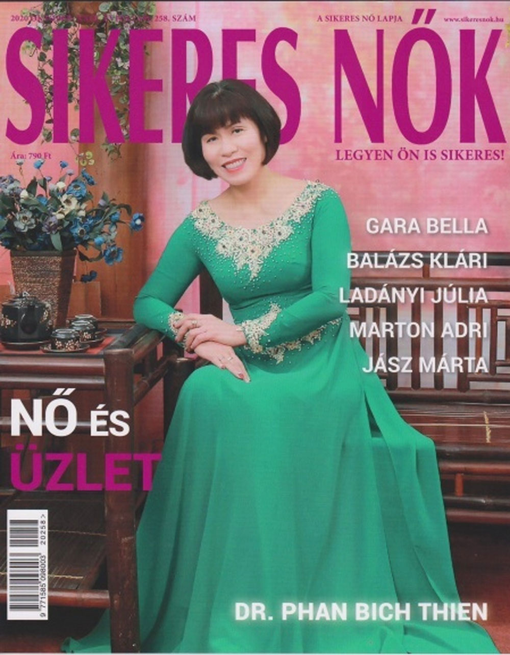 Hungarian magazine, Vietnamese businesswoman, Vietnamese immigrant, Phan Bich Thien, Covid-19-induced slump, five successful women