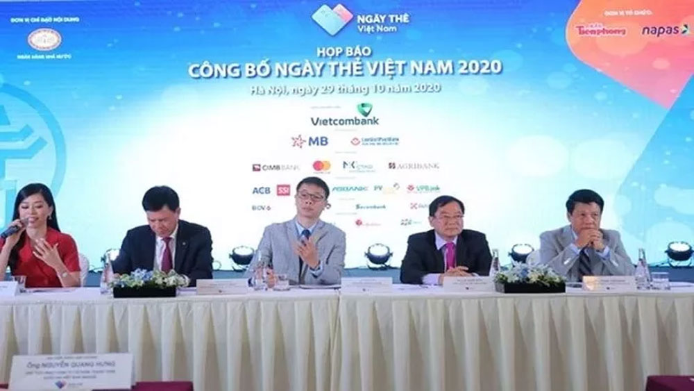 Vietnam Card Day 2020, launched in Hanoi, Covid-19 pandemic, internal power, non-cash payments, business and production activity