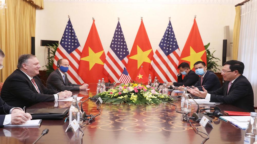 Phó Thủ tướng, Bộ trưởng Ngoại giao Phạm Bình Minh, hội đàm, Ngoại trưởng Hoa Kỳ Michael Pompeo