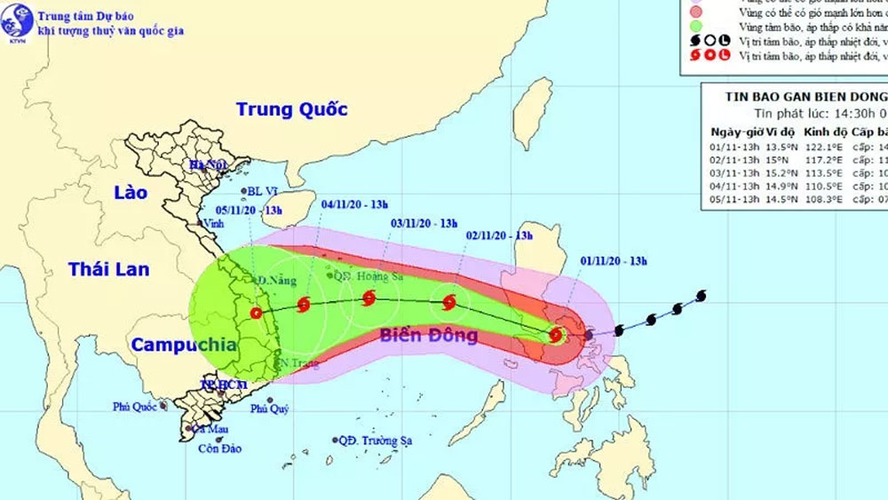 Super typhoon Goni leveled down, heading to East Sea