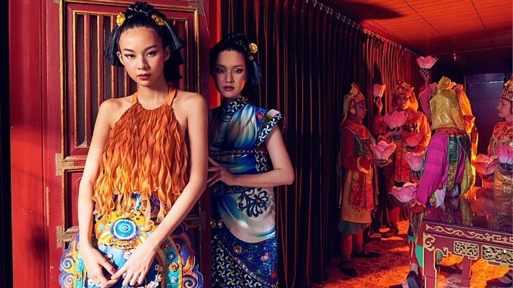 Traditional Vietnamese culture, endless inspiration, modern fashion, fabric and other material, cultural treasure house,  contemporary Vietnamese fashion designers