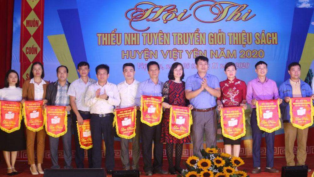 """Hội thi """"Thiếu nhi tuyên truyền giới thiệu sách huyện Việt Yên năm 2020"""""""