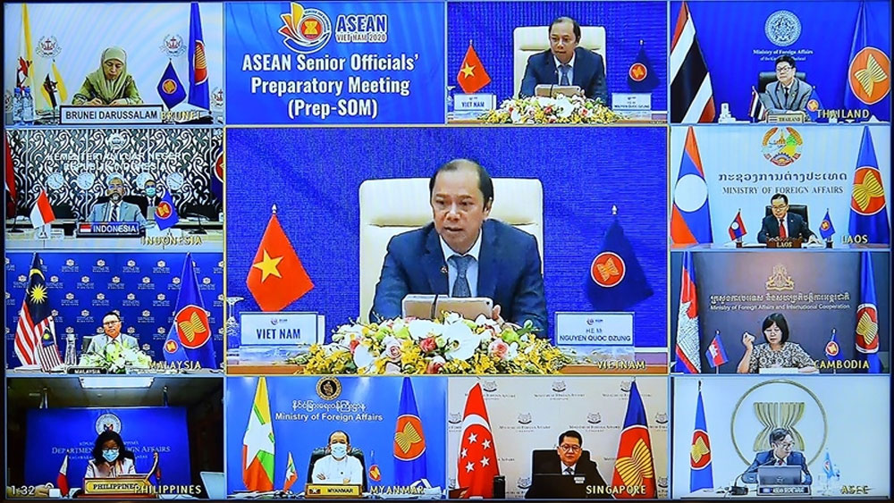 Senior officials, review preparations, 37th ASEAN Summit, related events, video conference, Covid-19 pandemic, most important events