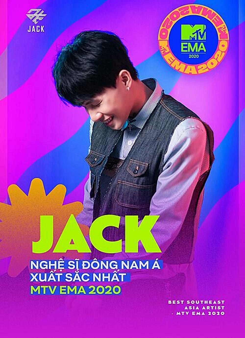 Vietnamese singer, MTV Europe music award, Singer Jack, Best Southeast Asia Act, regional artists, virtual awards ceremony, milestone achievement