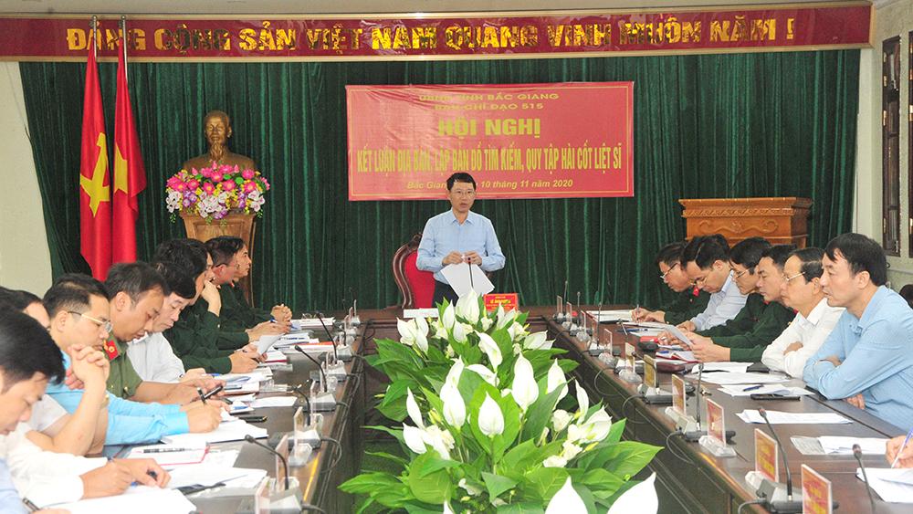 Tập trung làm tốt công tác tìm kiếm, quy tập hài cốt liệt sĩ trên địa bàn tỉnh Bắc Giang