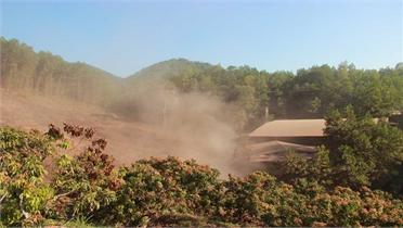 Cơ sở chế biến gỗ ở xã Cẩm Đàn tiếp tục gây ô nhiễm môi trường