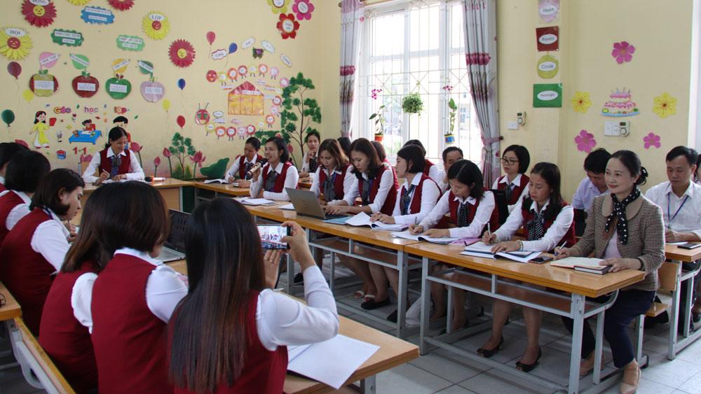 Việt Yên, giáo dục, sinh hoạt chuyên môn, trực tuyến, Bắc Giang.