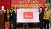 Phó Bí thư Thường trực Tỉnh ủy Lê Thị Thu Hồng dự Ngày hội Đại đoàn kết tại xã Quảng Minh (Việt Yên)