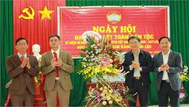Giám đốc Công an tỉnh Nguyễn Quốc Toản dự ngày hội đại đoàn kết tại huyện Sơn Động