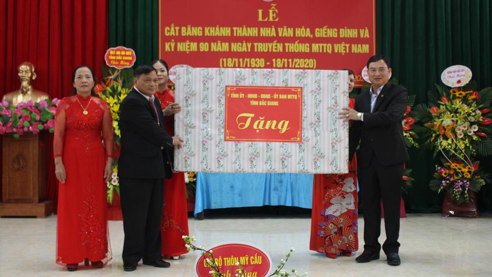 Chủ tịch UBND TP Bắc Giang Vũ Trí Hải dự Ngày hội Đại đoàn kết tại xã Tân Mỹ