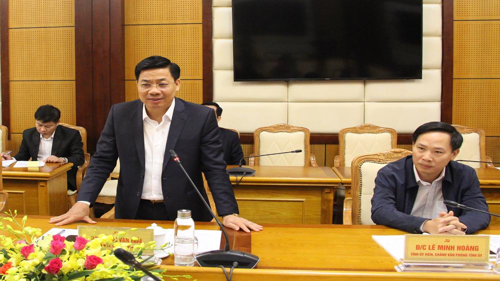 Bí thư Tỉnh ủy, Chủ tịch UBND tỉnh Dương Văn Thái làm việc với đoàn công tác Bộ Ngoại giao