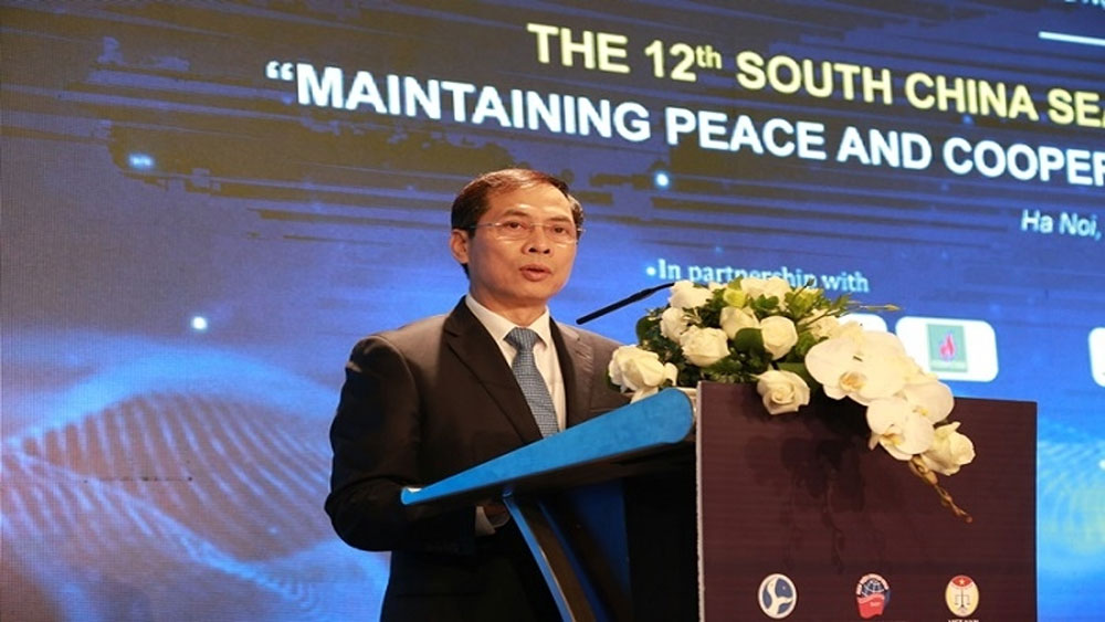 12th South China Sea, International Conference, Maintaining Peace and Cooperation, Time of Turbulence, Diplomatic Academy of Vietnam, prestigious experts, connectivity and cooperation