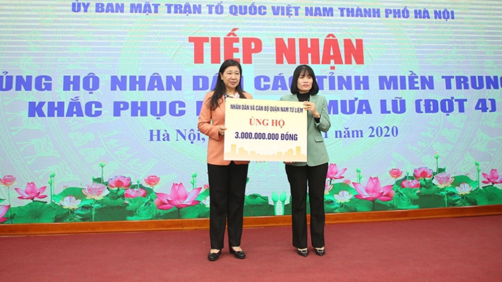 Vietnam Fatherland Front Committee receives more aid for flood victims