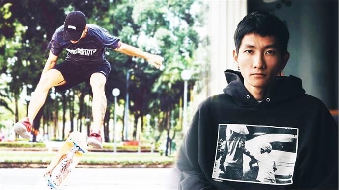 Member of Vietnam's national skateboard team on grinding with purpose