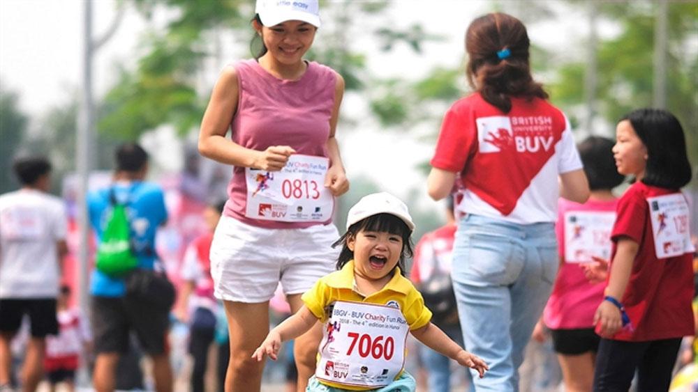 Britcham Vietnam, fun run, raise money for charity, Ecopark, 5,000 participants, annual fundraising event, improve the lives