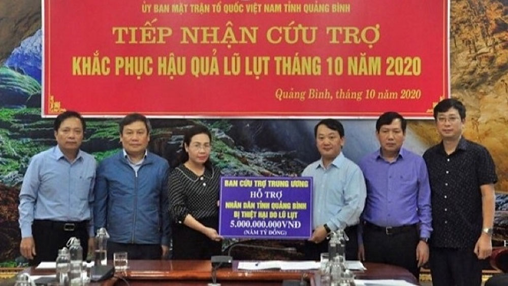 VND45 billion, 11 disaster-hit localities, Central Vietnam, second relief package, post-disaster recovery, Vietnam Fatherland Front