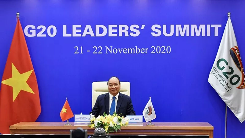 Prime Minister, Nguyen Xuan Phuc, virtual G20 Summit, Overcoming the Pandemic, Restoring Growth and Jobs, global policy coordination, Covid-19 pandemic