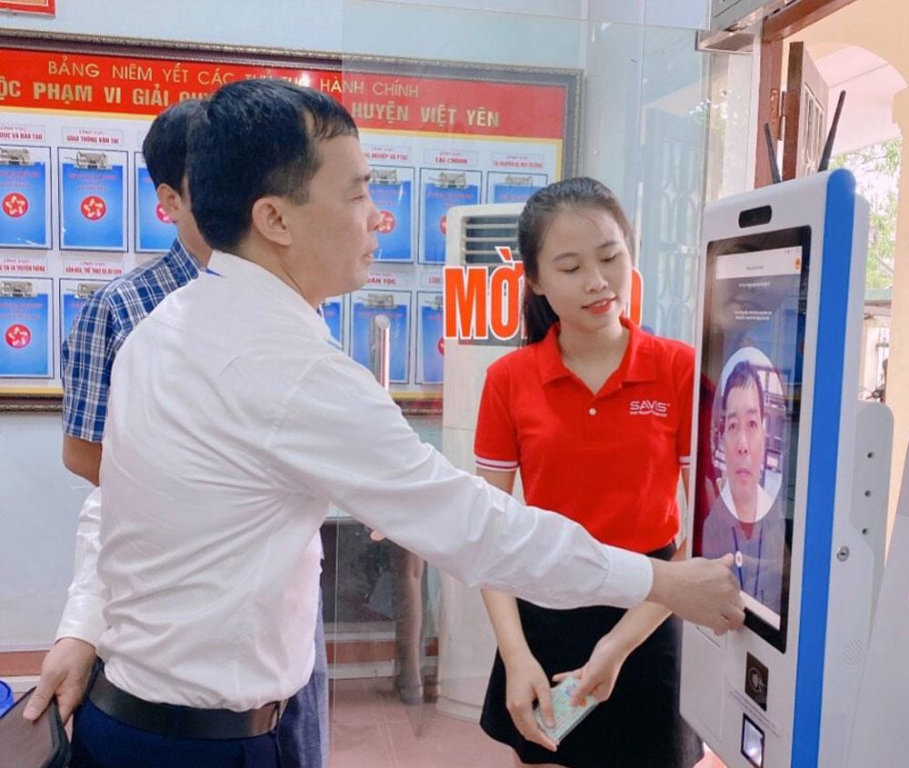 Việt Yên, cải cách hành chính, Bắc Giang, công nghệ thông tin.