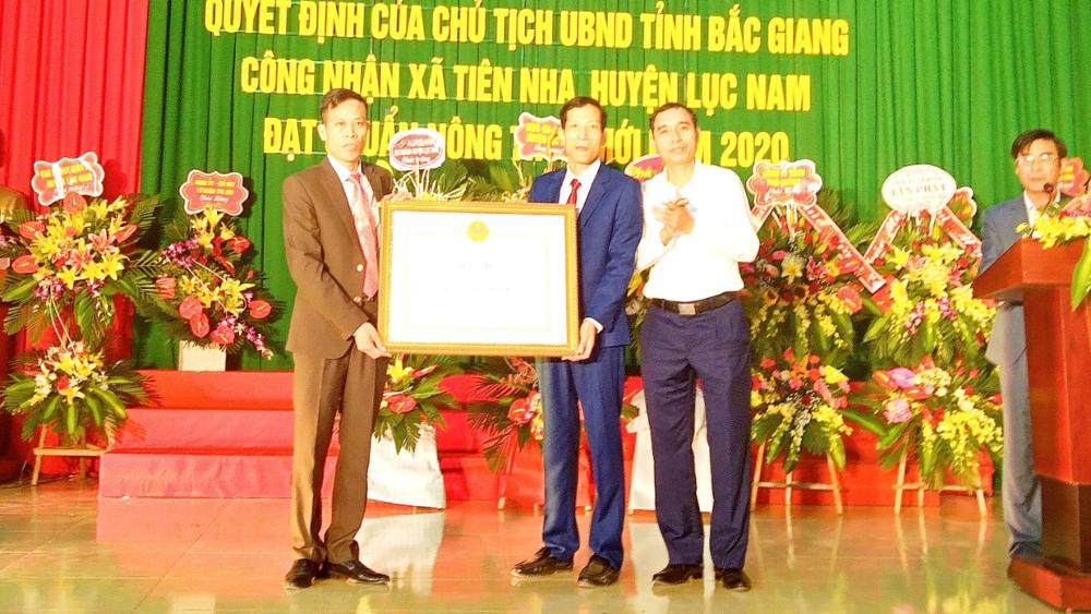 Lục Nam: Xã Tiên Nha đạt chuẩn nông thôn mới