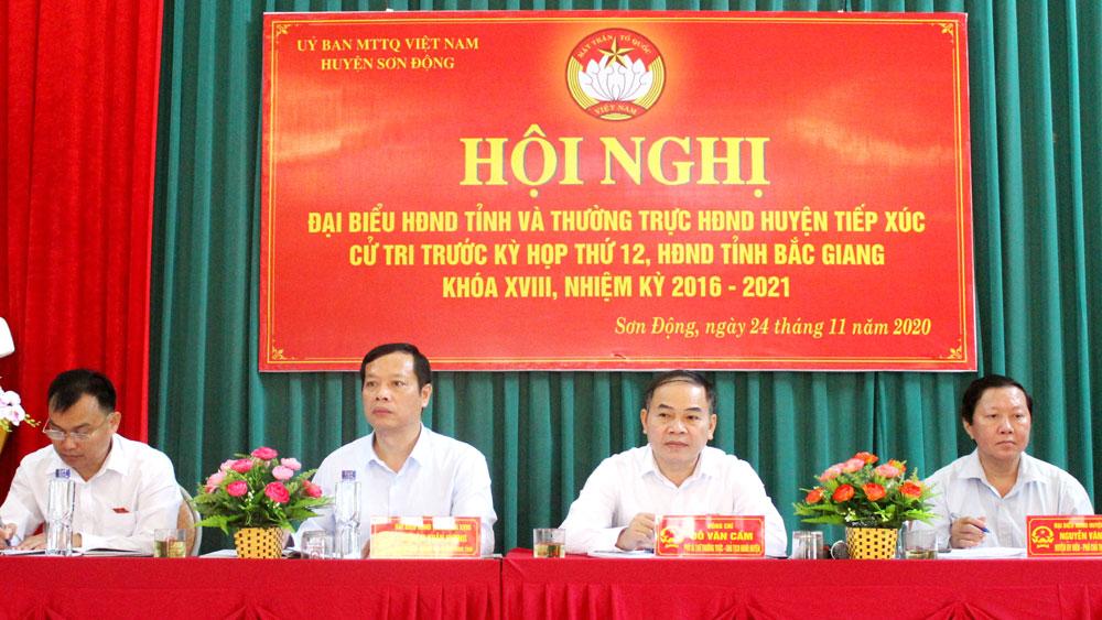 Đại biểu HĐND tỉnh Bắc Giang tiếp xúc cử tri huyện Sơn Động