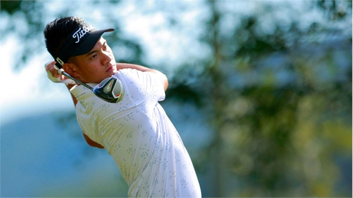 Young golfer pockets pro title in Da Lat