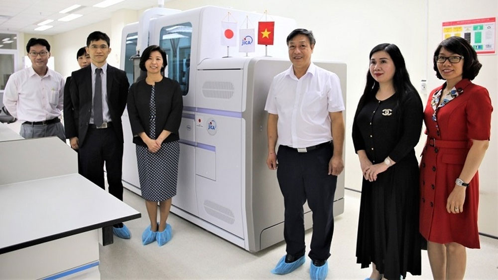 JICA, support Vietnam, Covid-19 testing equipment aid, automated PCR machine, Covid-19 diagnosis and treatment