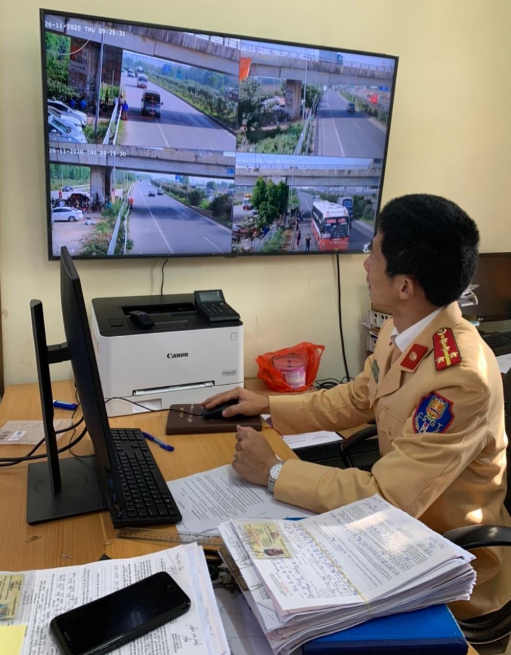 Bắc Giang: Lắp camera giám sát hình ảnh vi phạm trật tự ATGT trên cao tốc Hà Nội-Bắc Giang