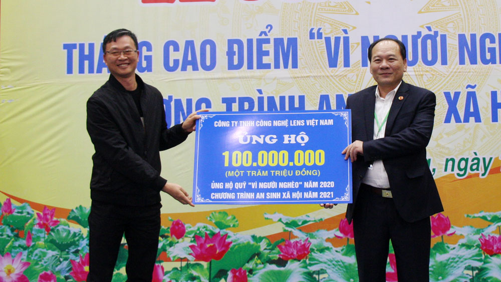 Bac  Giang province, Fund for the poor, Action month for the poor, Total donation,  great unity houses, present gift