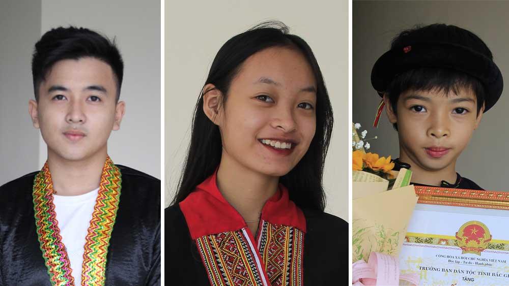 Ba gương mặt học sinh dân tộc thiểu số tiêu biểu