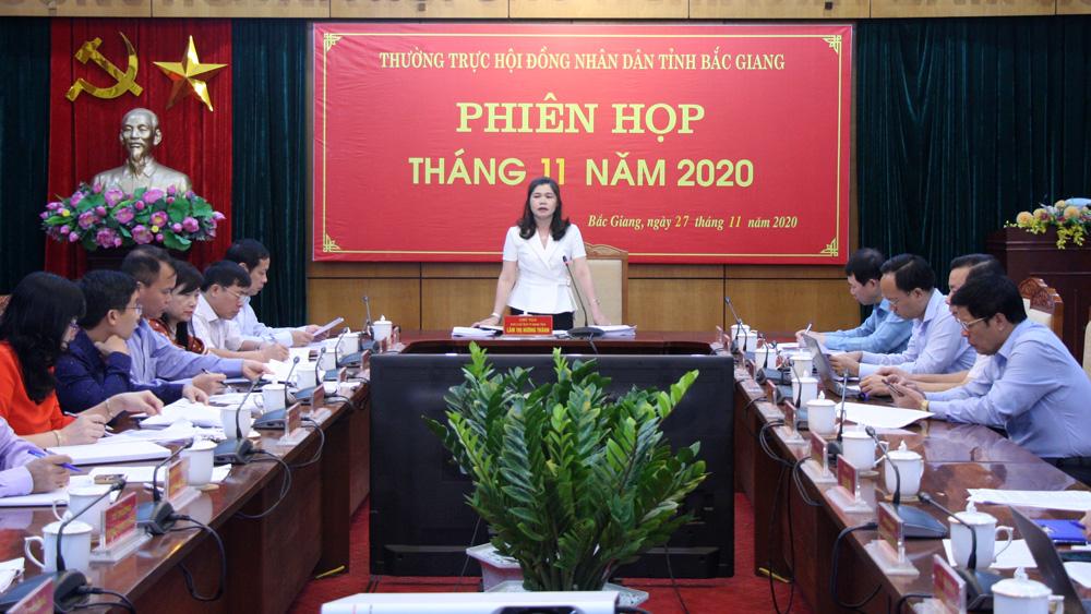 họp thường kỳ, HĐND tỉnh, Lâm Thị Hương Thành, Bắc Giang.