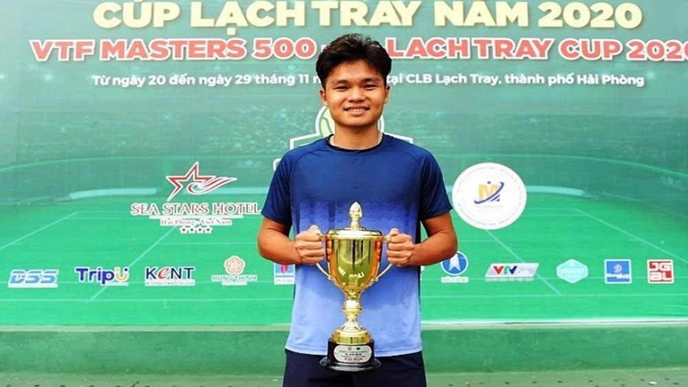 Trinh Linh Giang, Vietnamese tennis, triumph over, top star Ly Hoang Nam, men's singles final,  continuous victories