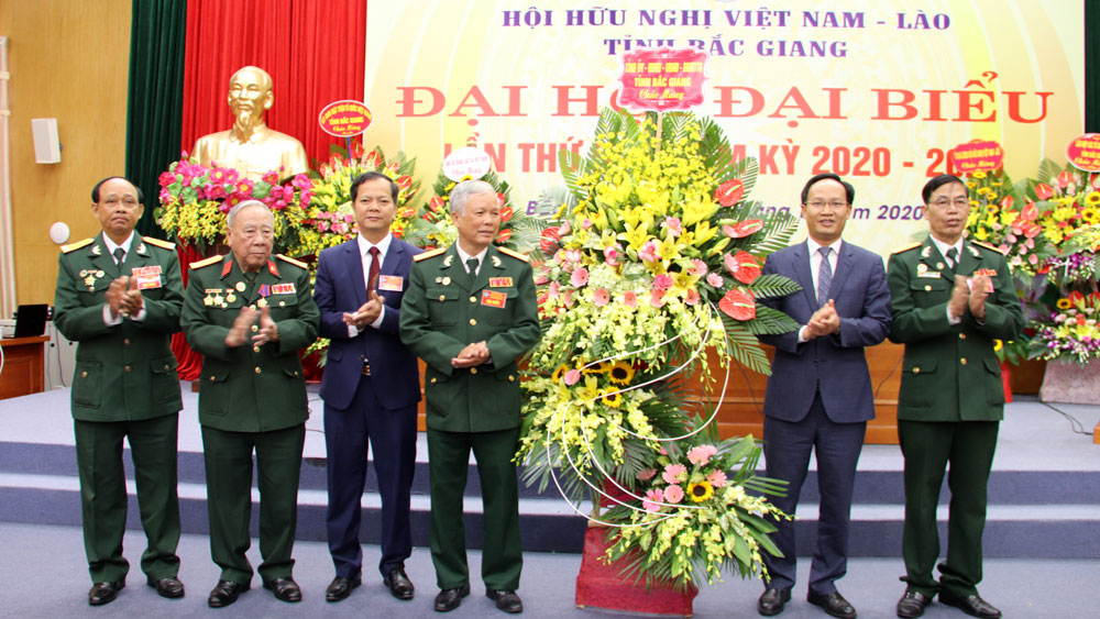 Vietnam - Laos, Friendship Organization, Bac Giang province, held Congress, tenure 2020 – 2025