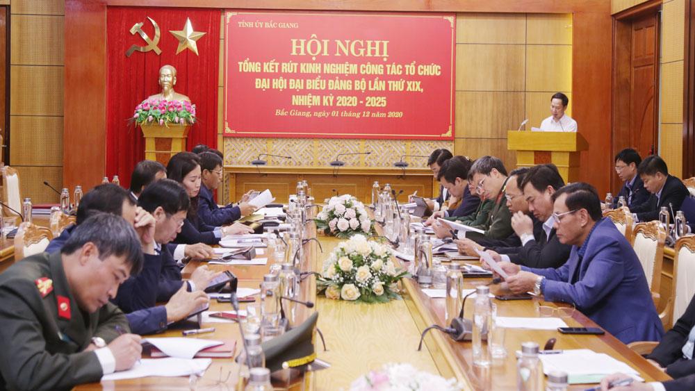 Bắc Giang, khen thưởng, tập thể cá nhân, Đại hội Đảng bộ tỉnh