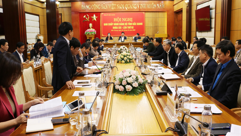 Provincial leader, Bac Giang province, province plan, 5 more industrial parks, socio-economic development,  solutions and key measures