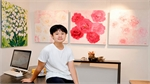 13-year-old's paintings snapped up at solo exhibition