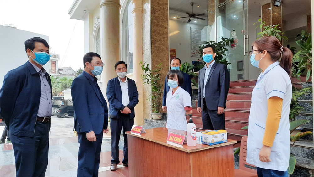 Provincial leader, Le Anh Duong, strict implementation, Covid-19 preventive regulations, Bac Giang province, prevention and control, health workers