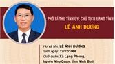 Chân dung đồng chí Lê Ánh Dương, Phó Bí thư Tỉnh ủy, Chủ tịch UBND tỉnh