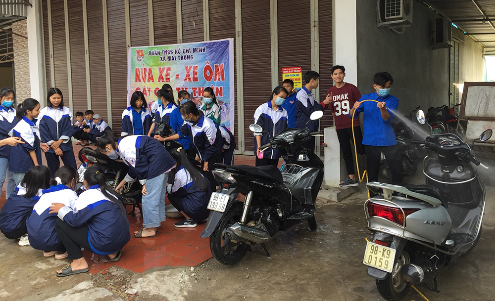 Winter Voluntary, 2021 Spring Voluntary Programmes, voluntary for community, Bac Giang province, Youth Union, youth members