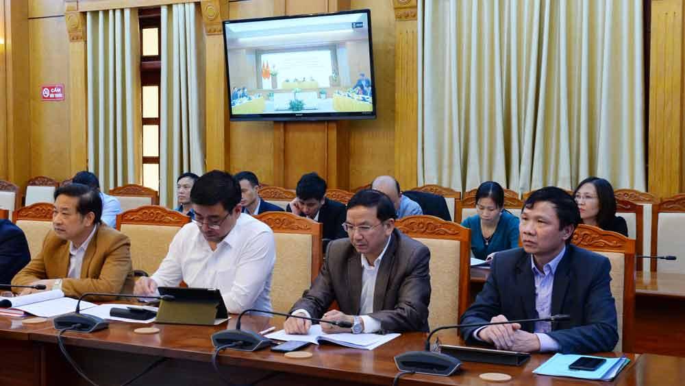 Các đại biểu dự hội nghị tại điểm cầu Bắc Giang.