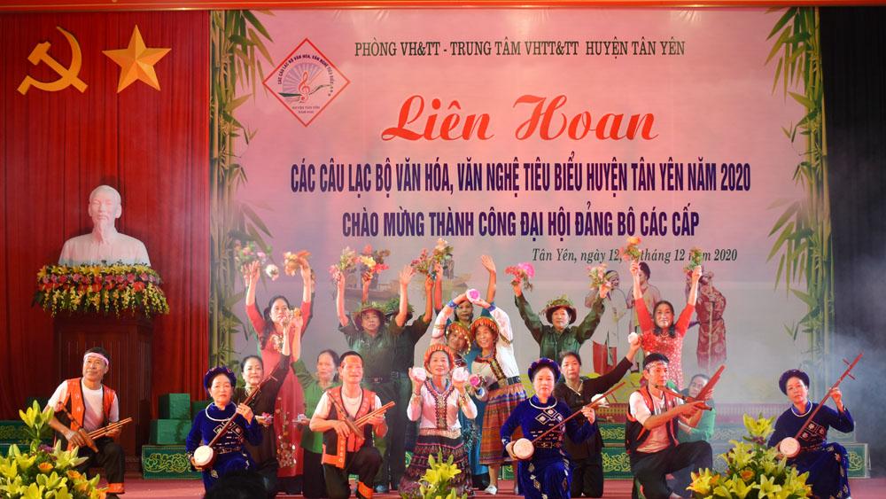 Liên hoan các câu lạc bộ văn hóa, văn nghệ tiêu biểu huyện Tân Yên