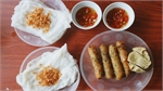 Ha Tinh's unique steamed rice rolls with spring roll stuffing