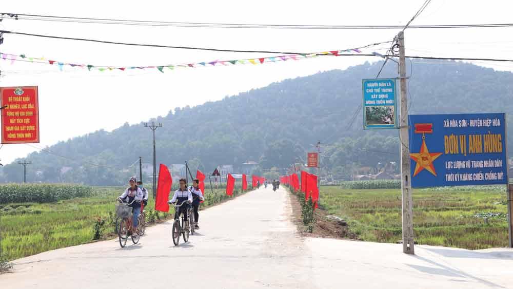 Bắc Giang: Thêm hai xã đạt chuẩn nông thôn mới, nông thôn mới nâng cao